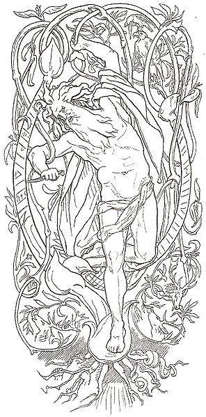 Odin_hung_himself_on_Yggdrasil